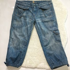 7 For All Mankind Jogger Style Crop Jeans Size 30